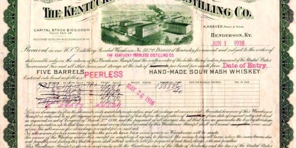 A Historical Receipt from the Kentucky Peerless Distilling Co