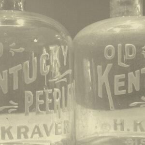 Original Kentucky Peerless glass decanters (Circa 1907)