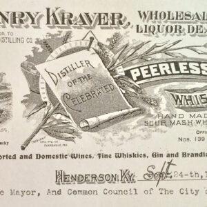 Henry Kraver official letterhead (Circa 1904)