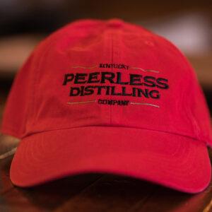 peerless red baseball cap