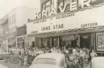 Henry Kraver founded the Kraver Theatre in the early 30's. It is shown here in 1952.