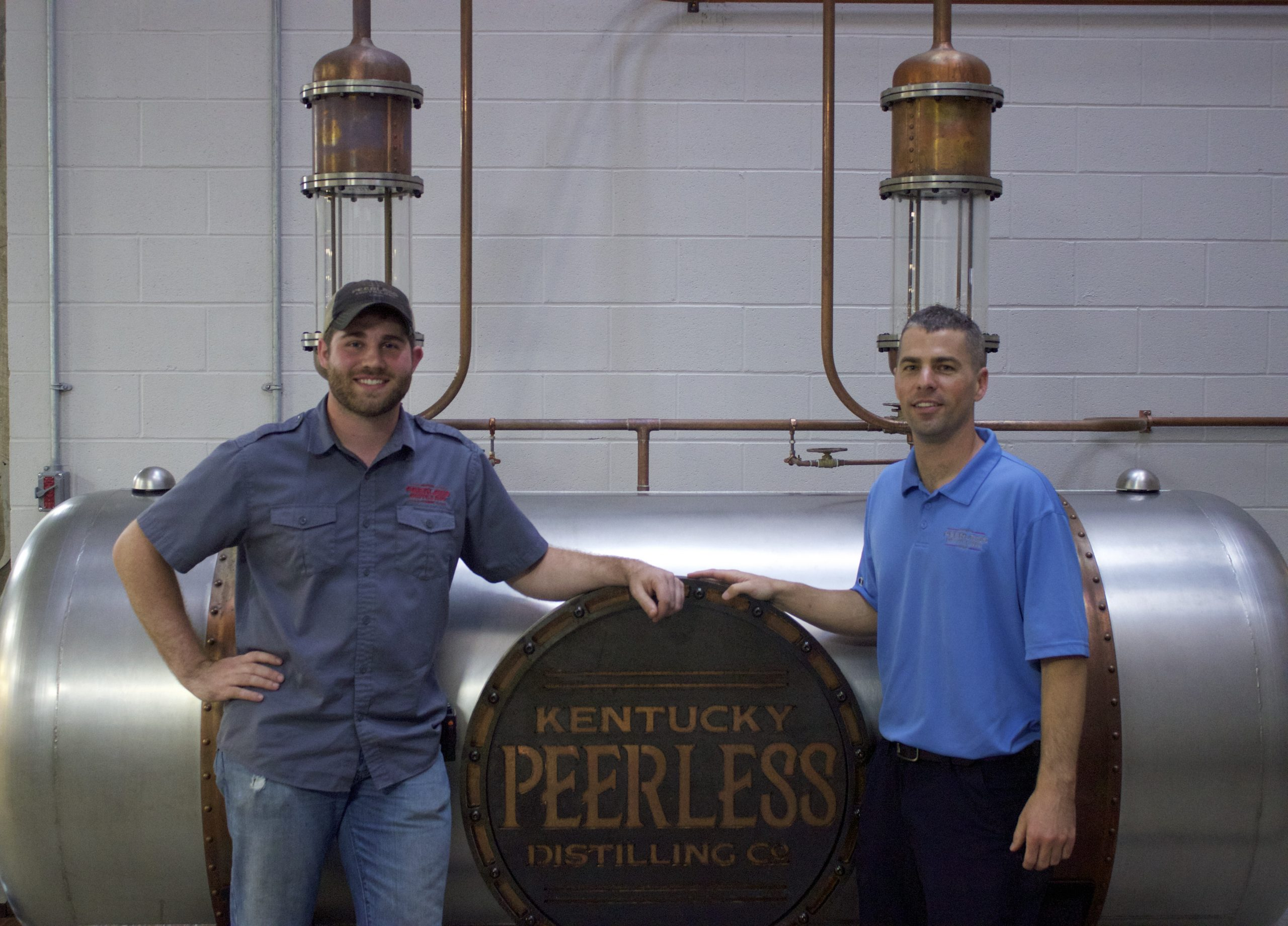 Caleb Kilburn on the left – Distiller – and Carson Taylor, President 5th Generation