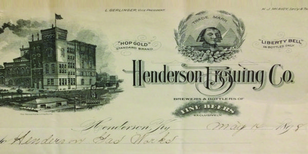 Invoice from the original Henderson Brewing Co (Circa 1910)