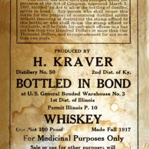 Historical Peerless Bottled in Bond Label
