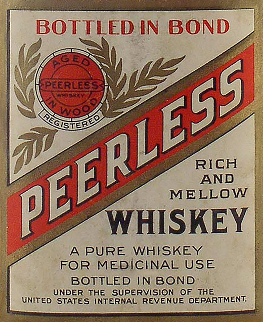 Kentucky Peerless Medicinal Label