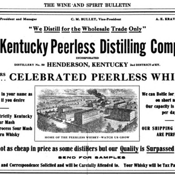 Peerless Wine and Spirit Bulletin Advertisement (Circa 1916)