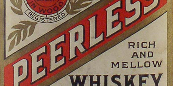 Original Peerless Whiskey Bottle Label