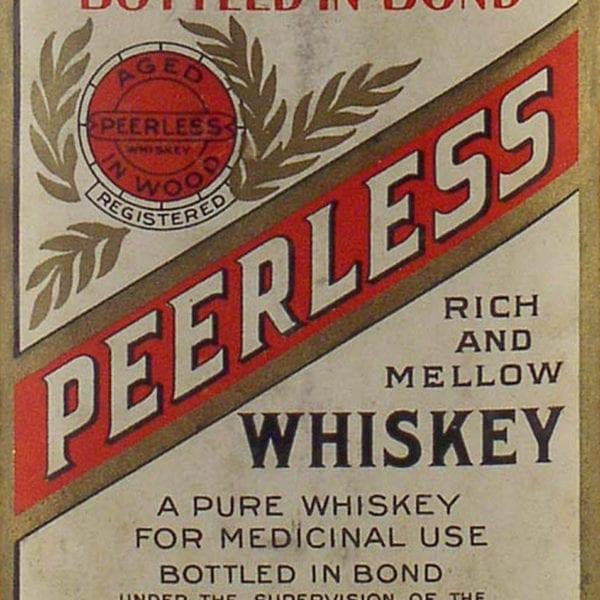 Original Peerless Whiskey Bottle Label