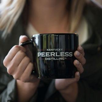 Peerless Black Coffee Mug