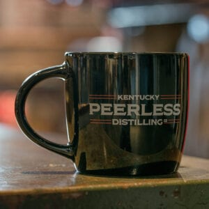 Peerless Black Coffee Mug