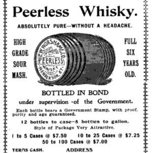 Peerless Whisky Ad (1893)