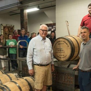 Peerless Distillery First Barrel Dump
