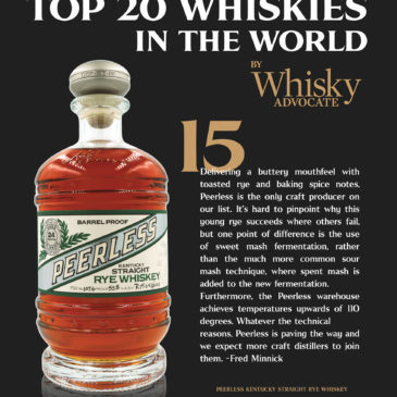 "Top 20 ""best in class"" whiskies across the world."