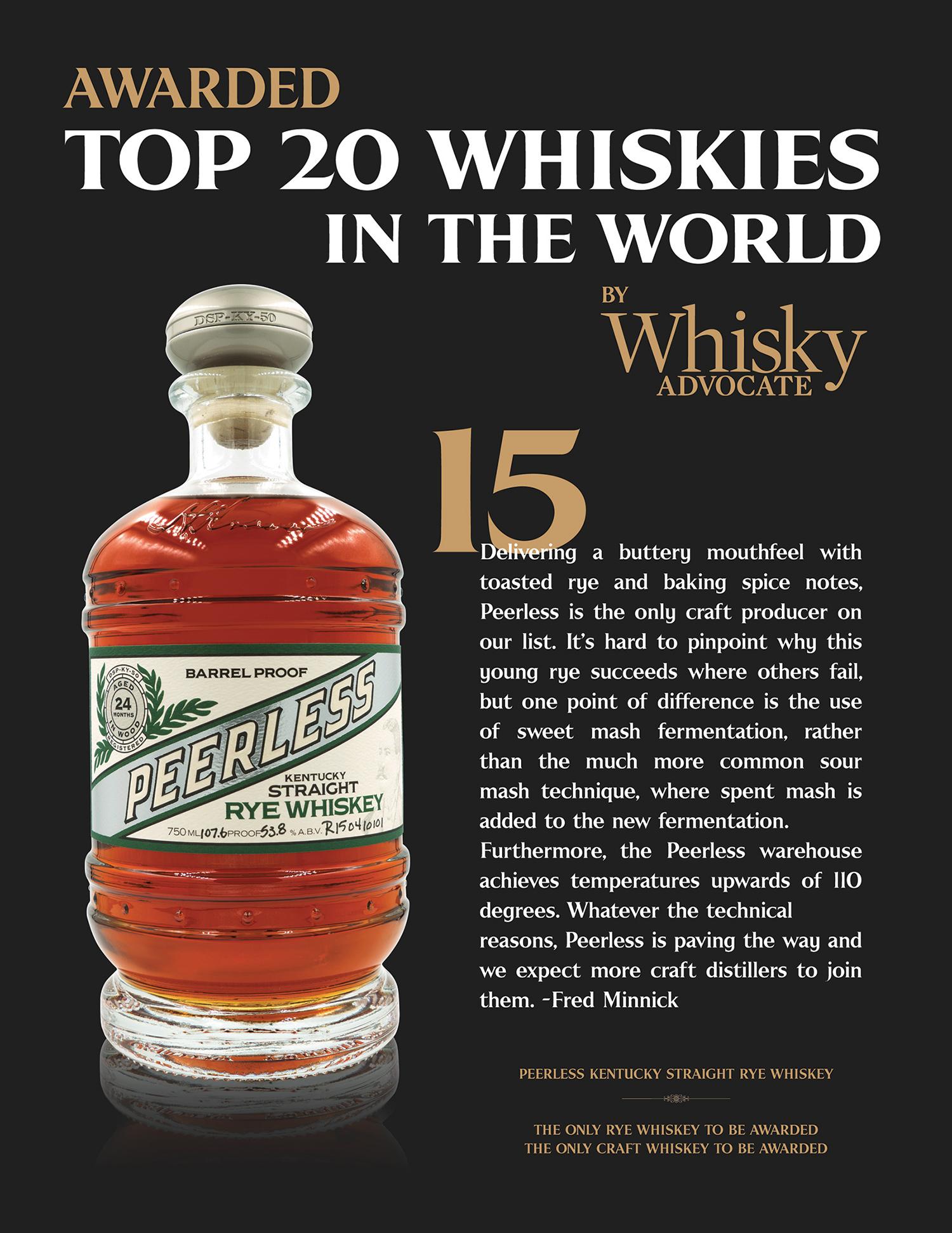 Whisky-Advocate-top-20-Peerless-Rye