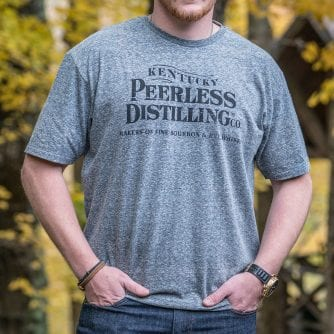 Peerless Logo T-Shirt Gray
