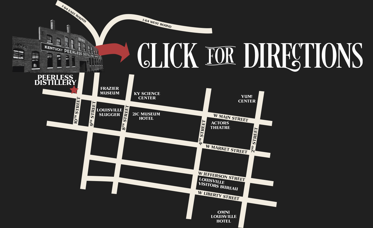 Kentucky Peerless Distilling Map distillery tours louisville kentucky
