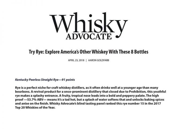 Whisky Advocate Peerless