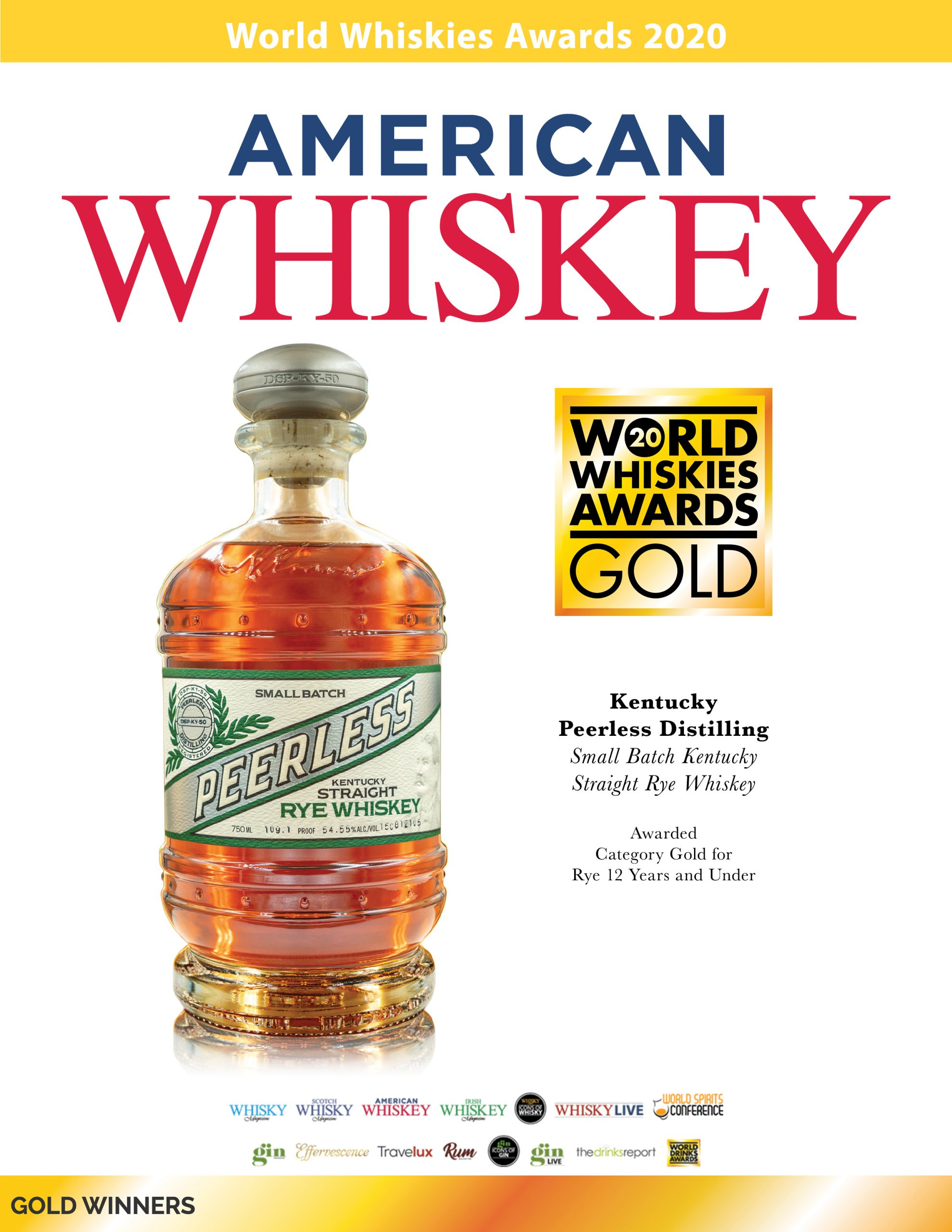 World Whiskey Awards 2020 Peerless RYE