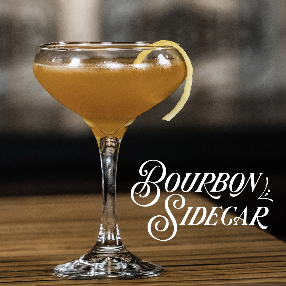 Peerless Bourbon whiskey cocktail Sidecar