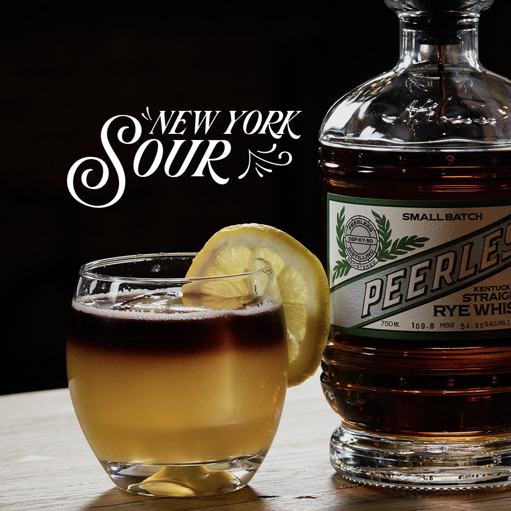 Peerless RYE whiskey cocktail New York Sour