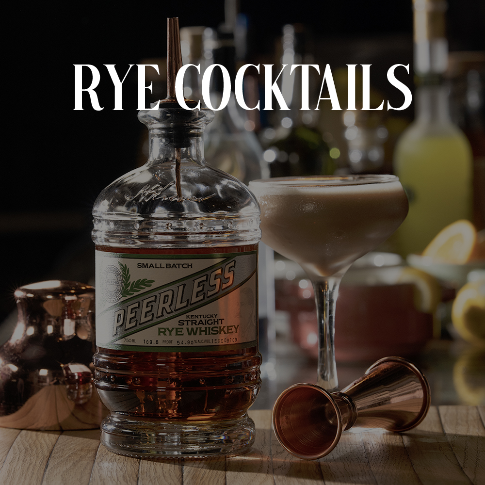 Peerless Rye whiskey cocktails